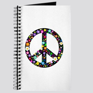 Hippie Flowery Peace Sign Journal