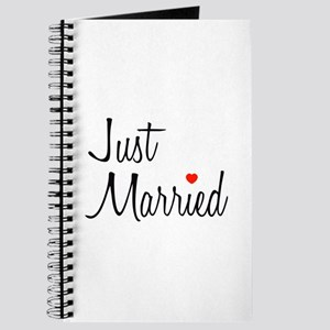 Just Married (Black Script w/ Heart) Journal