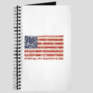 13 Colonies US Flag Distresse Journal
