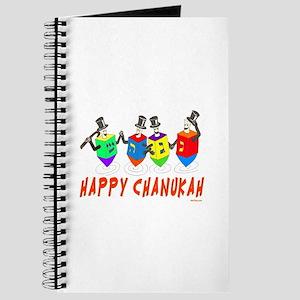 Happy Hanukkah Dancing Dreidels Journal