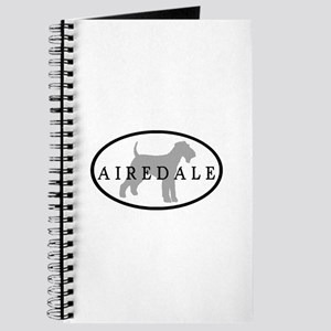 Airedale Terrier Oval #3 Journal
