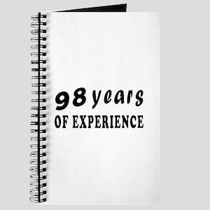 98 years birthday designs Journal