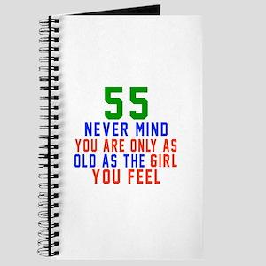 55 Never Mind Birthday Designs Journal