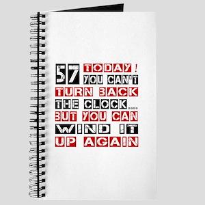 57 Turn Back Birthday Designs Journal