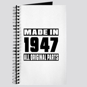Made In 1947 Journal