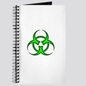 Neon Green Biohazard Symbol Journal