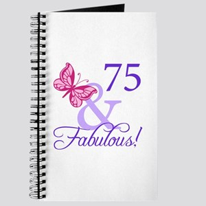75 And Fabulous Journal