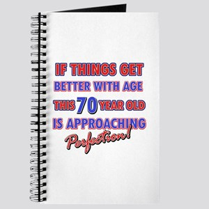 Funny 70th Birthdy designs Journal