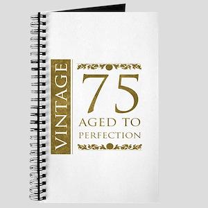 Fancy Vintage 75th Birthday Journal