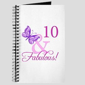 Fabulous 10th Birthday For Girls Journal