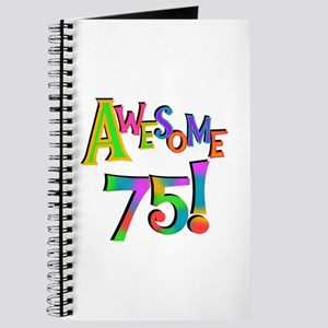 Awesome 75 Birthday Journal