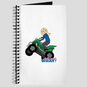 ATV Woman Blonde Journal