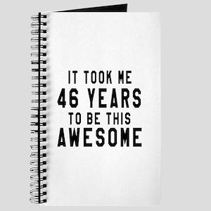 46 Years Birthday Designs Journal
