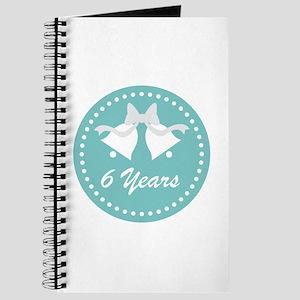 6th Anniversary Wedding Bells Journal