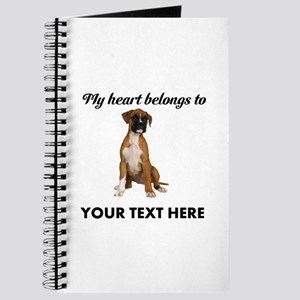 Personalized Boxer Dog Journal