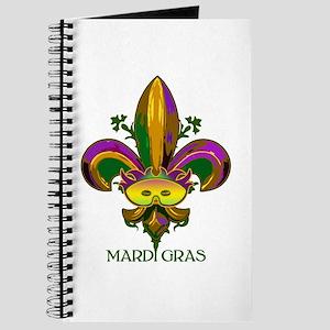 Masked Fleur de lis Journal
