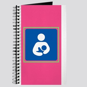 Breastfeeding Symbol on Pink Journal