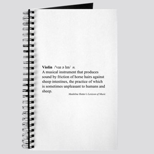 Humorous Violin Definition Journal