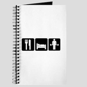 Man Eat Sleep Lift Weights Journal