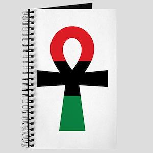 Red, Black & Green Ankh Journal