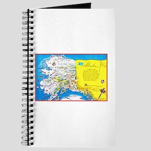 Alaska Map Greetings Journal