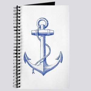 vintage navy blue anchor Journal