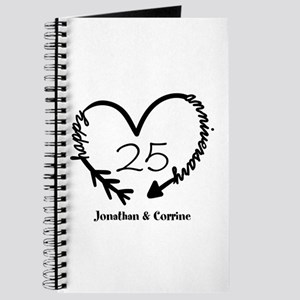 Custom Anniversary Doodle Heart Journal