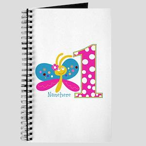 Butterfly First Birthday Journal