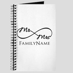 Custom Infinity Mr. and Mrs. Journal
