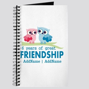 6th Anniversary Couple Gift Personalized Journal