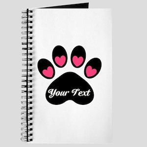 Personalizable Paw Print Journal