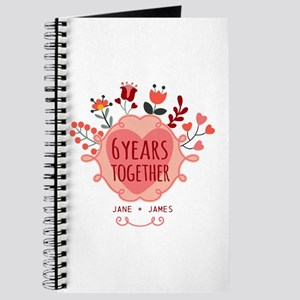 Personalized 6th Anniversary Journal