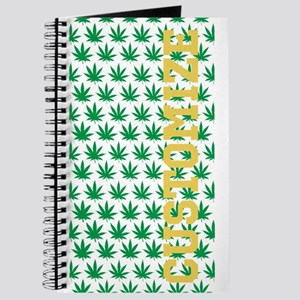 Customized Pot Leaf Pattern Journal