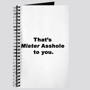 Mister Asshole Journal