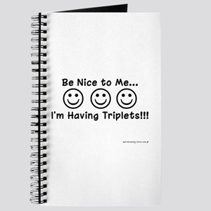 Be Nice to Me Triplets Journal