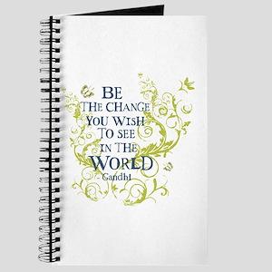 Gandhi Vine - Be the change - Blue & Green Journal