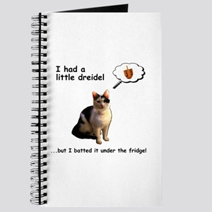 Hanukkah Dreidel Cat Journal