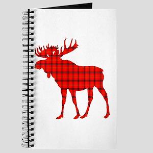 Moose: Rustic Red Plaid Journal