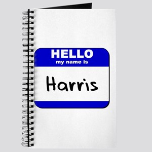hello my name is harris Journal
