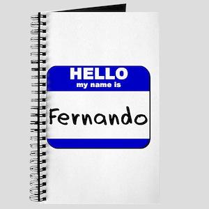 hello my name is fernando Journal