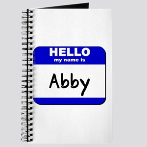 hello my name is abby Journal