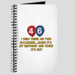46 year old birthday designs Journal