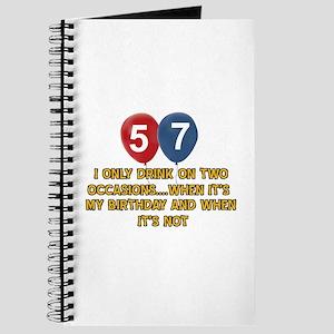 57 year old birthday designs Journal