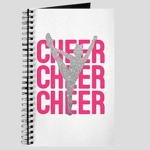 Pink Cheer Glitter Silhouette Journal