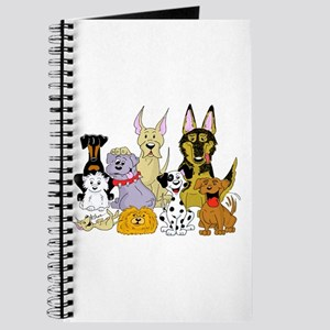 Cartoon Dog Pack Journal