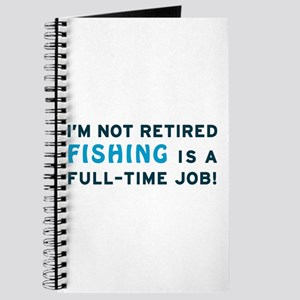 Retired Fishing Gag Gift Journal