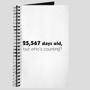 70th Birthday Journal