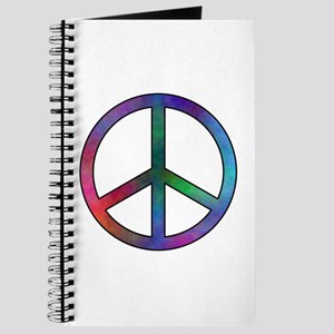 Multicolor Peace Sign Journal