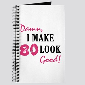 Hot 80th Birthday Journal