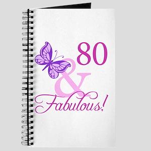80 & Fabulous (Plumb) Journal